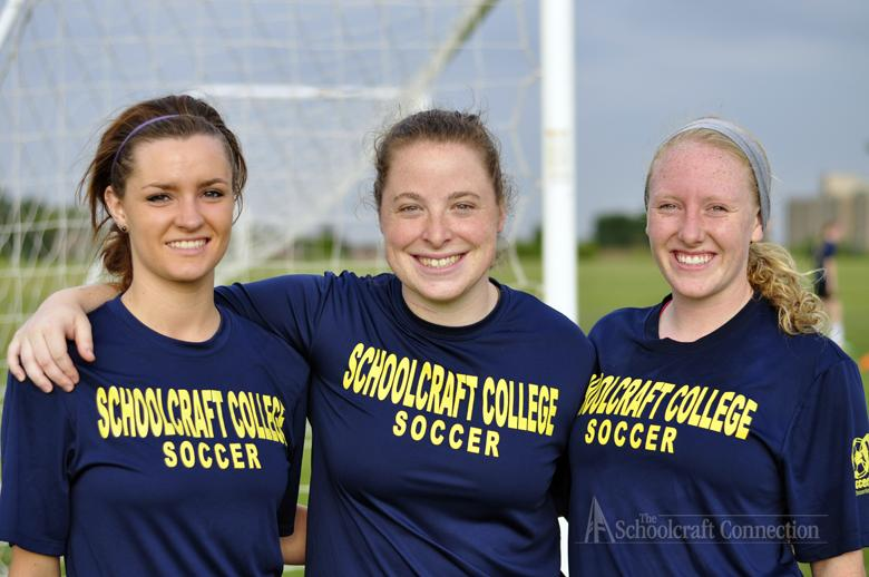 (Left to right), Hannah Hasrouk, Remy Houttekier, and Jessica Parry. Photo by Nathan Gartner.