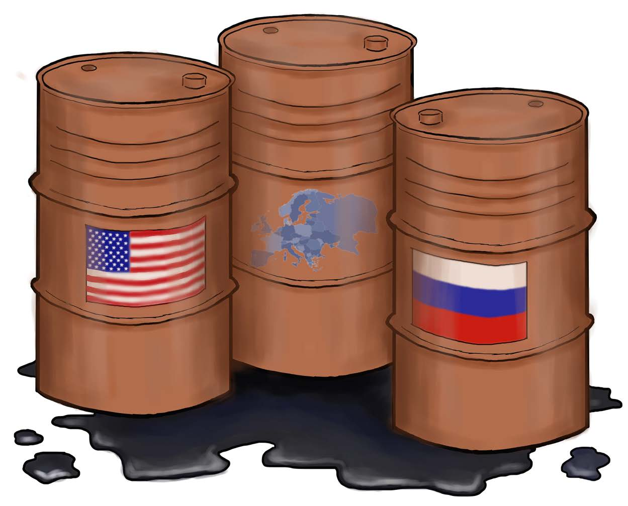 ILLUSTRATION BY SARAH SISK STAFF WRITER The United States and Russia are deadlocked in a new Cold War battle. The struggle has shifted from the fight for global influence to the fight for control of Europe's energy future.