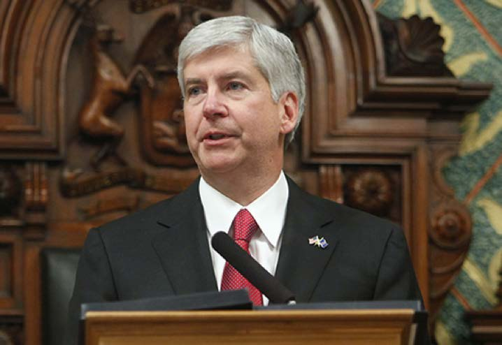 PHOTO FROM MICHIGAN.GOV Michigan Governor Rick Snyder announced his plan at the 2015 State of the State address to send more state tax dollars to fund skill trade apprenticeships in Michigan.