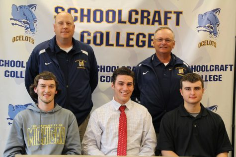 Top left to right Head coach Rob Fay,  assistant coach George Kontos  Bottom; Nicholas Montroy, Christian Werner, Matthew Buhagiar