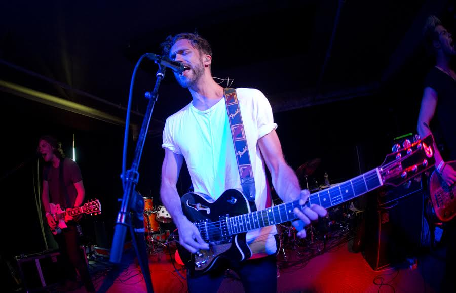 British band Lawson's lead singer Andy Brown impresses the crowd with his vocal and instrumental talent