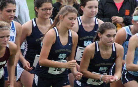 Audrey Baetz prepares to race at The Spartan Invitational on Sept. 18.