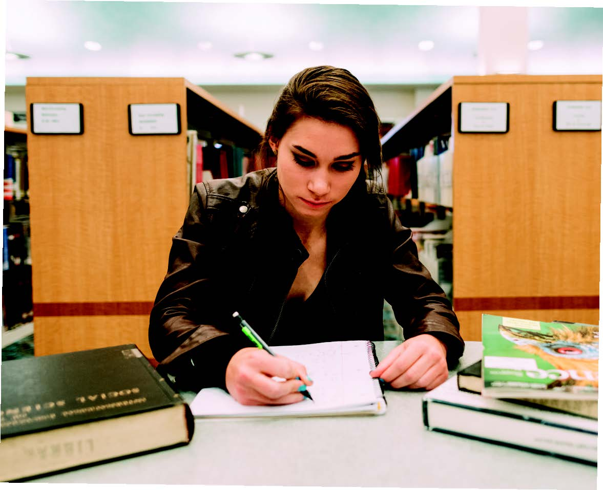 Audrey Baetz applies her determination and focus to her studies as well.