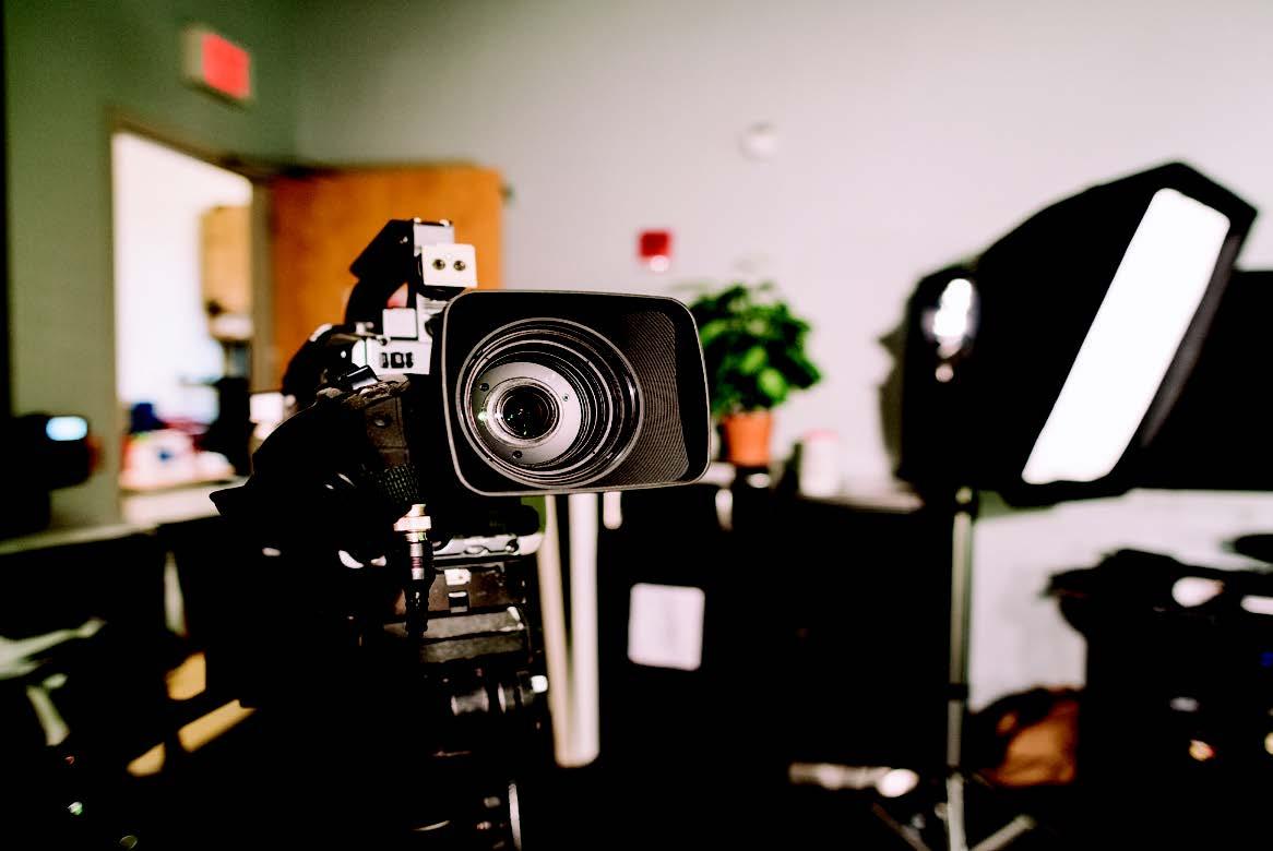 Filming begins on the set of Coachs' Corner.