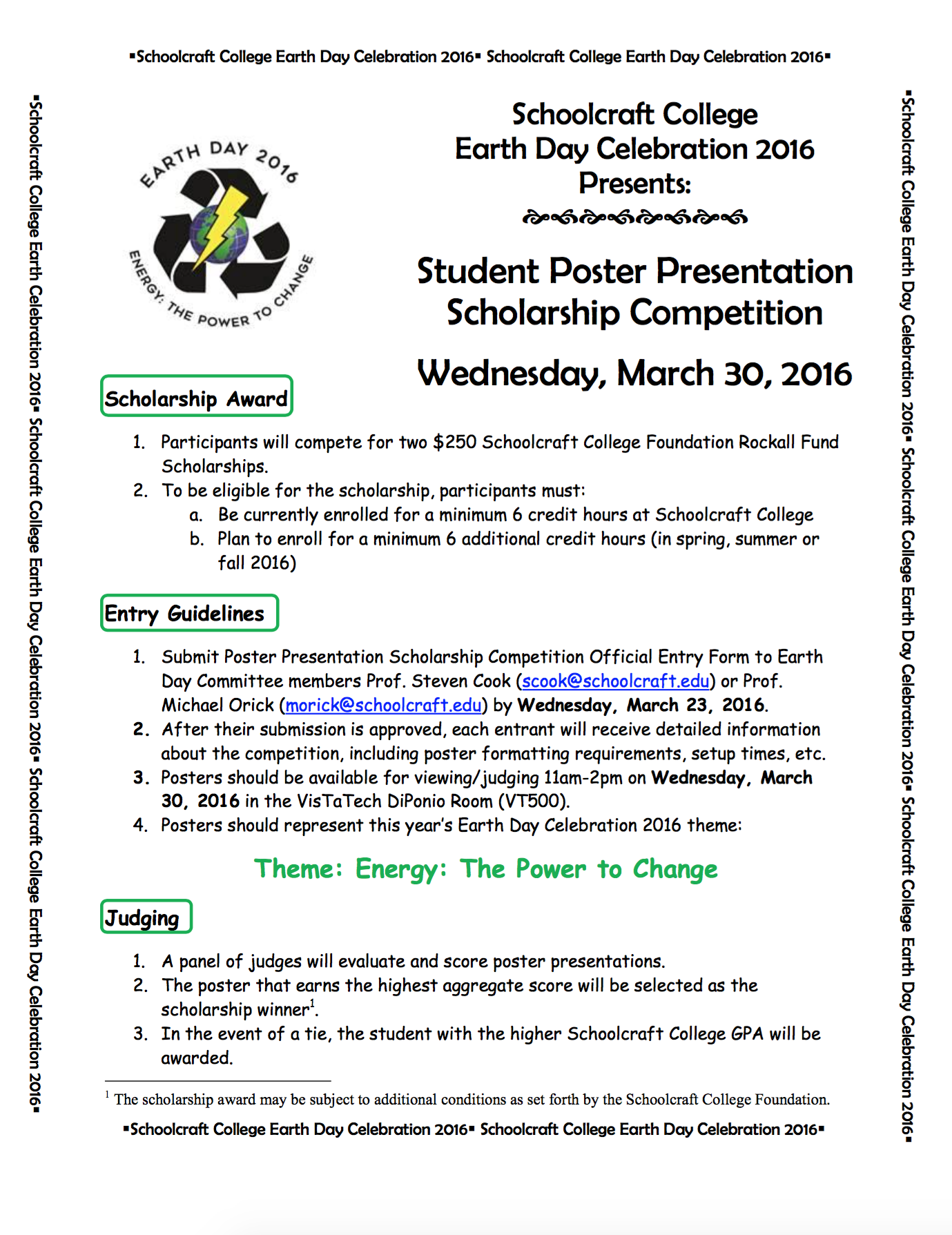 Earth Day Student Competition