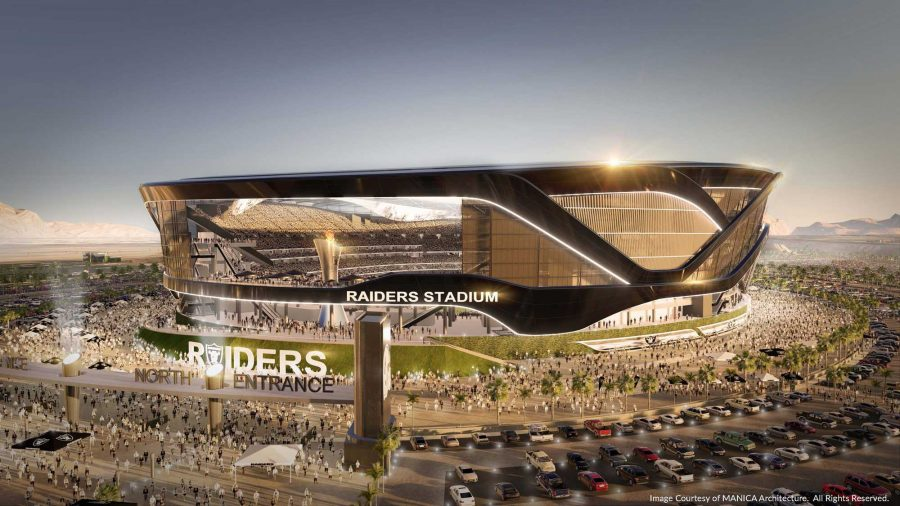 Las Vegas is more focused on athletic stadiums than their school system and the benefit of their city. (Image from the Architecht's Newspaper)