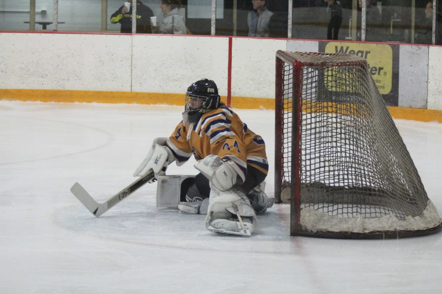 Goalie+Bryan+Donaldson+defends+the+goal+from+the+Northwood+Timberwolves+only+letting+in+two+goals+the+whole+game.+%28Photo+by+Elizabeth+Casella%2C+Managing+Editor%29