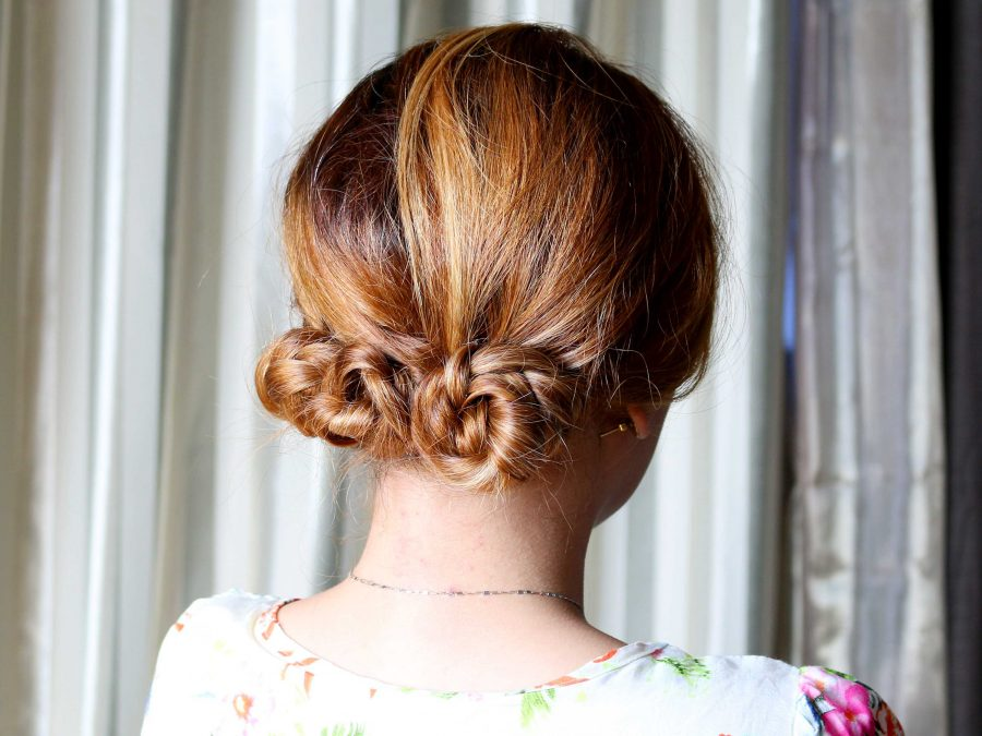 knotted+bun+hairstyle