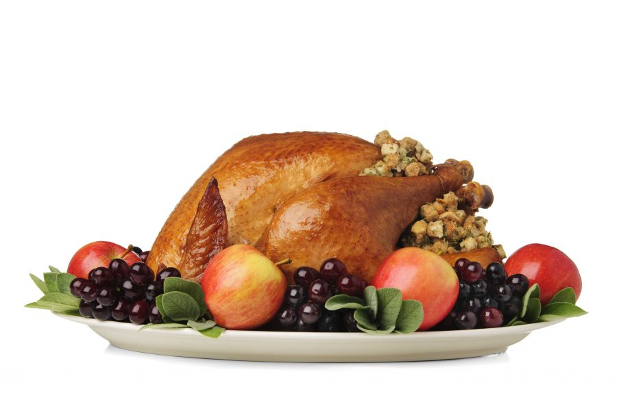 picture+of+a+cooked+turkey+with+stuffing+and+fruit