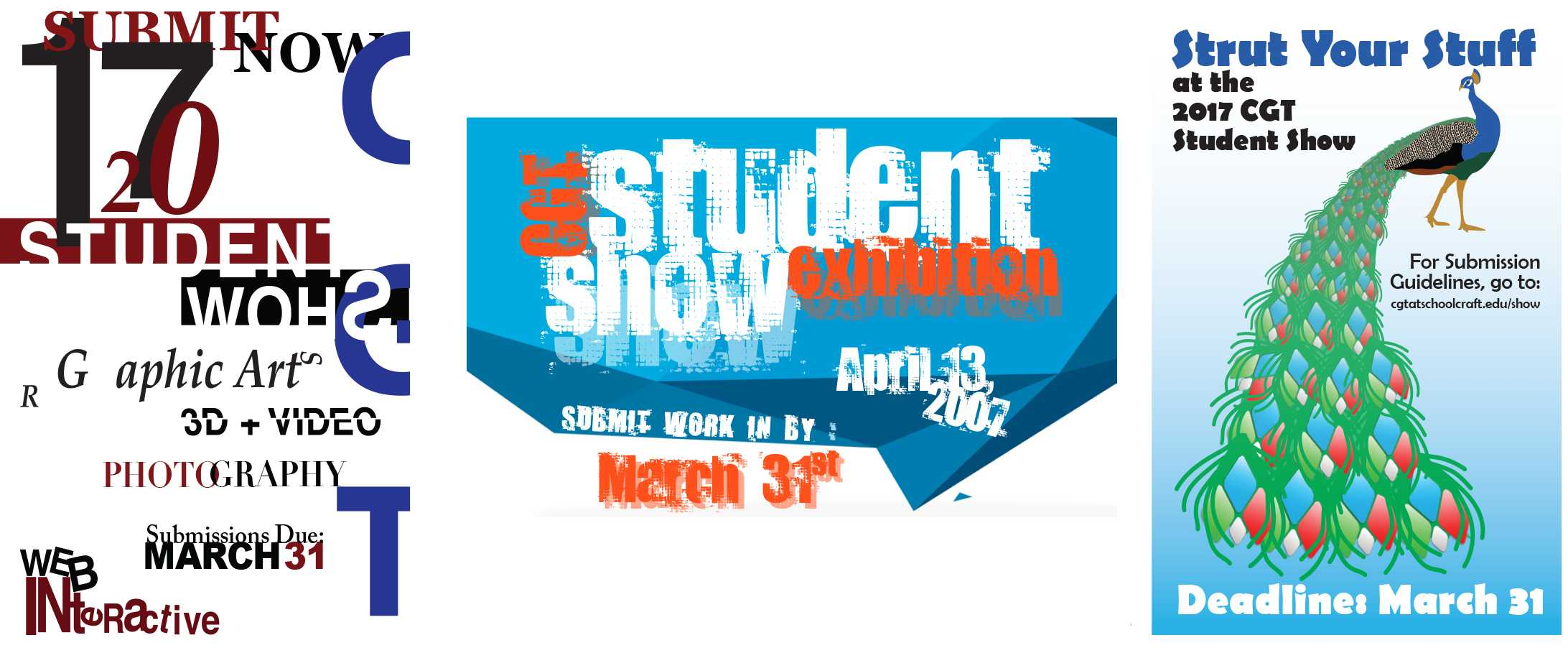 CGT Student Show Posters