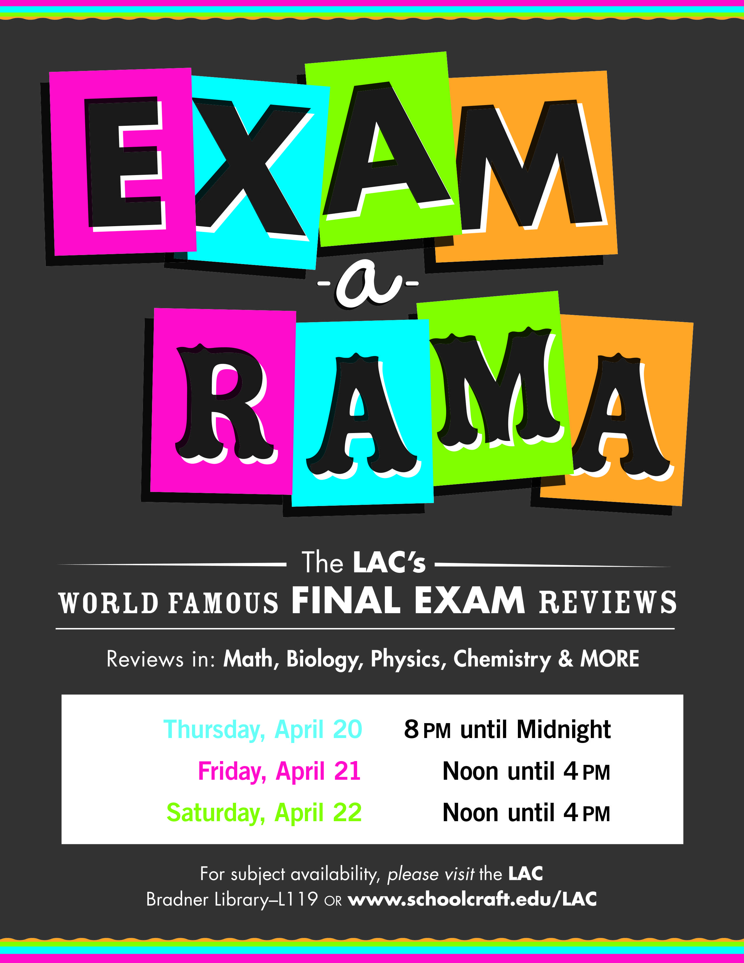 exam-a-rama-winter-2017