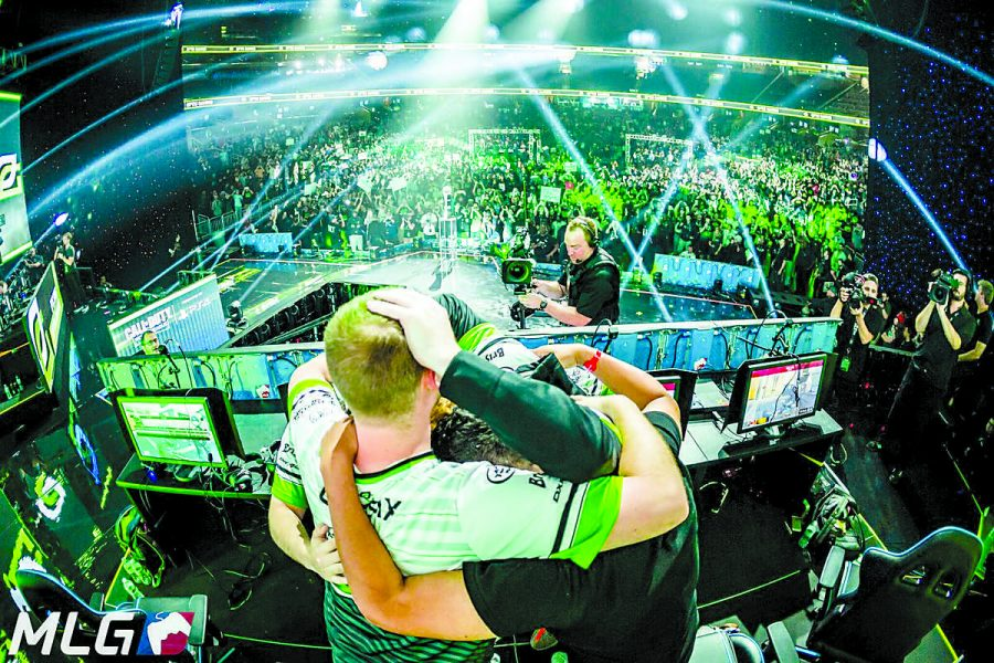 OpTic+Gaming+reacts+to+their+win+at+the+Call+of+Duty+World+Championship.+In+recent+years%2C+eSports+finals%E2%80%99+viewership+has+surpassed+NBA+finals+viewers.%0A%28Image+from+Twitter.com%2FMLG%29%0A