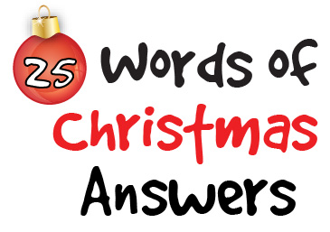 Words of Christmas Puzzle Answers