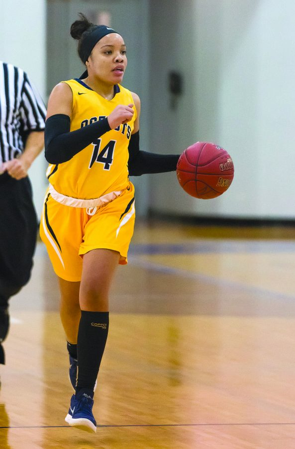 The+Schoolcraft+Women%E2%80%99s+Basketball+team+improved+their+winning+streak+to+three+games+with+a+win+over+Mott+Community+College%2C+Jan.+10.%0A%28Image+from+Student+Activities+Archives%29