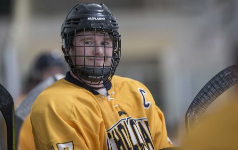 """I give 110%, because I want other players to see how hard I'm working, and I want them to match my intensity."" (Andrew Nowak, Hockey Team Captain)"