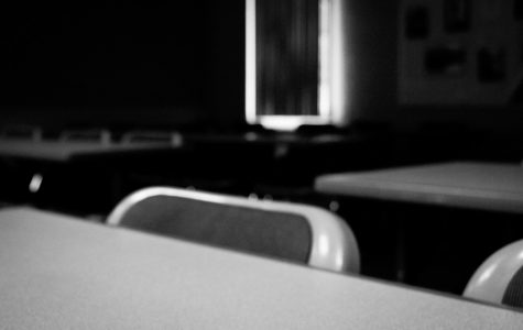 Clean whiteboards, empty classrooms