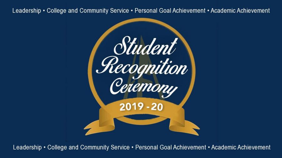 Service and achievement recognized through Student Recognition Ceremony